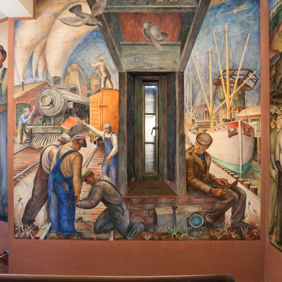 Coit tower murals arg conservation services inc for Coit tower mural